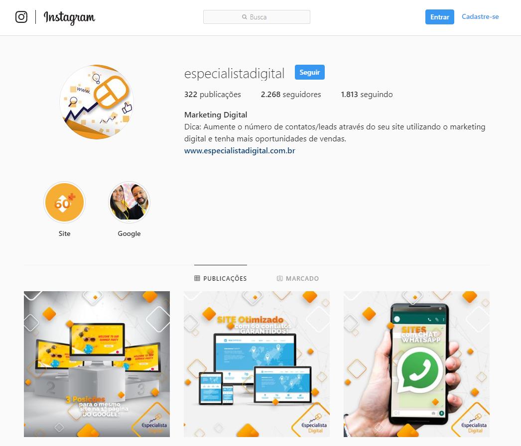 promoção no instagram