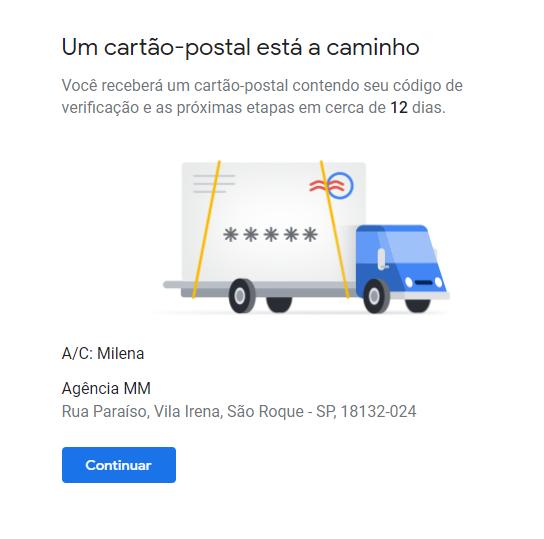 google meu negócio alterar endereço