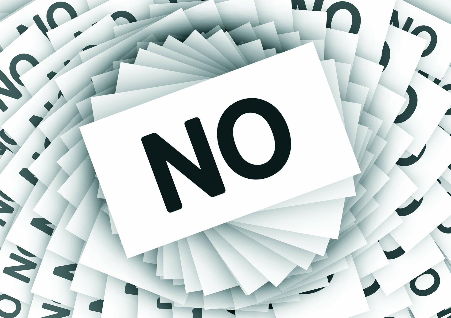 Tenho que aprender a dizer não